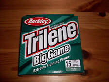Berkley Trilene Big Game 15 lb Lo-Vis Green Fishing Line 300 yds - New!