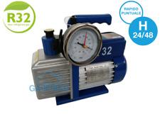 POMPA del VUOTO BISTADIO 70 LT/MIN. OMOLOGATA PER GAS R32 OLIO INCLUSO