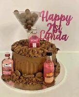 Custom Cake Topper Glitter Any word Any name personalised 21st birthday