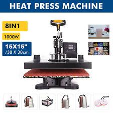 8 in 1 15x15 Heat Press Machine Digital Transfer Sublimation Machine Printer
