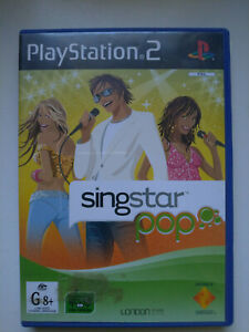 Playstation 2 PS2 Singstar Pop Game