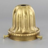 """SOLID BRASS ~ ART DECO ~  2 1/4"""" Fitter Lamp Shade Holder ~ #C3-6"""