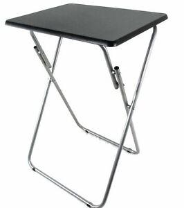 New Folding Wooden TV Table Desk Fold Side Dinner Laptop Tray Coffee Picnic Tea