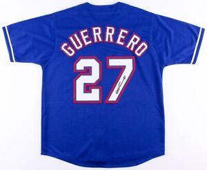 Vladimir Guerrero Signed Rangers Jersey (JSA COA) A.L. Most Valuable Player 2004