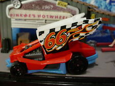 2016 STUNT DEVIL Design DIRTY OUTLAW☆Red/Blue; Checker 66☆LOOSE Hot Wheels