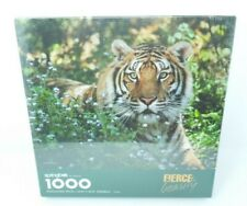 Vintage Springbok Hallmark 1000 Piece Puzzle FIERCE BEAUTY Tiger Made in USA