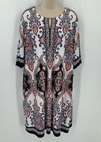 Sandra Darren Sheath Dress Plus Size 20W 3/4 Sleeve Printed Paisley Printed NWT