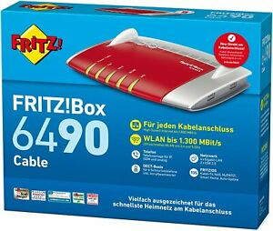 Vorher lesen! AVM FRITZ!Box 6490 Cable WLAN AC + N Router.