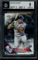 2016 Topps Chrome Gary Sanchez RC Card #143 BGS 9 Mint Rookie NYY Yankees