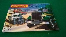 MATCHBOX COLLECTORS CATALOGUE 1982/83 USA  EDITION EXCELLENT CONDITION