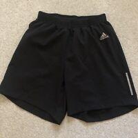 Adidas Running Workout Shorts Black - Mens Medium