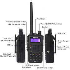 Retevis RT5 Walkie-Talkie Dual Band UHF+VHF 7W 128CH 1750Hz tone 2-Way FM Radios