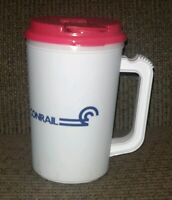 Vintage Conrail Railroad TRAIN Water Cup Bottle INSULATED Sport EMPLOYEE PROMO