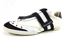 Dolce&Gabbana White Leather Sneakers, Men's Shoes Size US 9 / EU 42