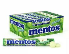 Mentos Green Apple Flavored Chewy Candy 1 Box 15 Rolls Mints Apples Bulk
