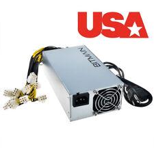 Bitmain Power Supply APW3++- 12V 1600W PSU A3 PCI L3+ D3 S7 S9 110-220V USA