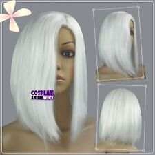 White Heat Styleable No Bang Short Cosplay Wigs  Free shipping Z344