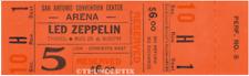 "1  LED ZEPPELIN VINTAGE UNUSED FULL CONCERT TICKET 1971 San Antonio, TX ""orange"""