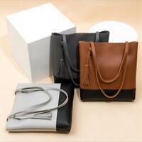 Ladies Handbag Shoulder Bags Tote Purse PU Leather Women Messenger Bag Q