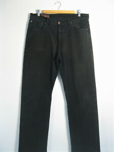 MARLBORO CLASSICS | Men's Black Soft Touch Straight Leg Jeans | W36 L34 | 36 34