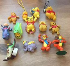 """13x Winnie the Pooh, Eeyore, Tigger, Heffalump, Owl 1-2"""" Mini Plastic Figurines"""