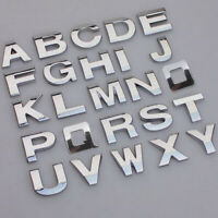 3D A-Z 0-9 Alphabet Letters Car Sticker Self Adhesive Badge Emblem Chrome Top x1