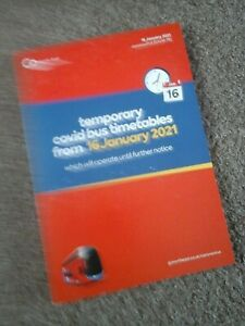 Go north east temporary pandemic bus timetable book jan 2021