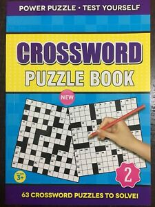 Handy A5 CROSSWORD Puzzle Cook Travel Size with 63 Crosswords to Solve
