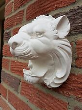 Lion rubber latex mould mold wall hanging decoration plaque plaster concrete new