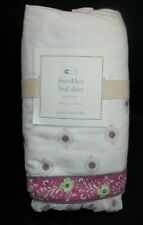 Pottery Barn Kids Baby Brooklyn Crib Bed Tier Ruffle Skirt Lavender #1334