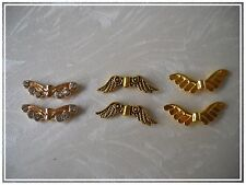 Metal bead Angel Angel Wing Angel Wings Spacer golden Choice Tinker