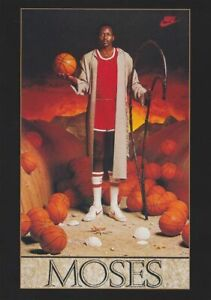 "Vintage NIP Nike ""MOSES"" NBA Poster"