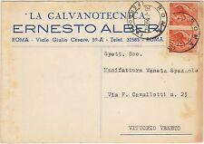 ROMA - LA GALVANOTECNICA ERNESTO ALBERI 1958