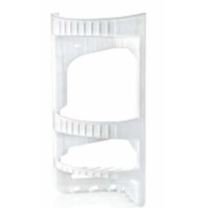 3 Tier Durable Plastic Shower Caddy Corner Shelf Bathroom Organizer Storage UK