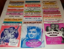 (30) piece old movie sheet music lot