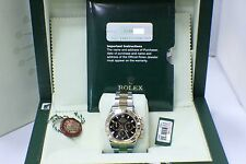 ROLEX DAYTONA 116523 18KT GOLD & STAINLESS STEEL BLACK DIAL BOX & PAPERS