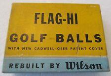 DOZEN UNUSED GOLF BALLS -WILSON FLAG-HI WITH CADWELL GEER COVER   REBUILT  RARE