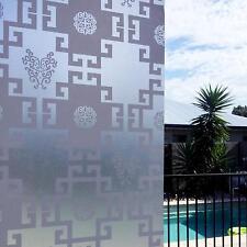 90cm x 5m Shoji Oriental Square Privacy Frosted Frosting Window Glass Film