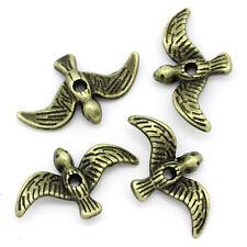 Sexy Sparkles 10 Pcs, Antique Bronze Bird Charm Beads 17mmx10mm (5/8''x3x8''), H