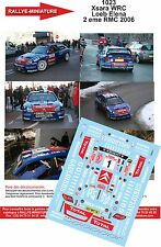 DÉCALS 1/18 réf 1023 CITROEN  Xsara WRC  Loeb Elena 2 eme MONTE CARLO 2006