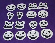 New SPOOKY GHOST PUMPKIN Cup Glass Beverage Clings Halloween Party Decor 16 ct.
