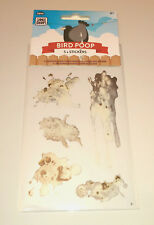5 BIRD POOP STICKERS Realistic Poo Splat FUN PRANK DECALS JOKE GIFT Car Pigeon