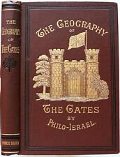 1897 THE GEOGRAPHY OF THE GATES LOST TEN TRIBES OF ANCIENT ISRAEL ILLUSTRATED NF