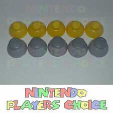 GameCube Joystick Caps 5 Left [Grey] and 5 Right [Yellow] Replacement Parts NEW