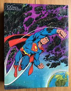 Vintage SUPERMAN 100 pc JIGSAW PUZZLE 1983 Golden Open Box
