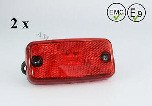 12-24V RED REAR MARKER POSITION REFLECTIVE LED Light Lamp Trailer cable truck