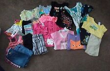 Toddler Girls 4T LOT of 21 Summer Fall Dresses Shorts Shirts Top Gymboree Old Na