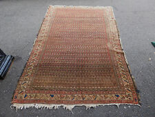 Antique Persian Hamedan Carpet  rug estate 4.9 x7.9 Worn distressed AS IS