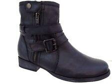 ZIGI GIRL Black Leather SUZETTE Urban Boots Size 6 M