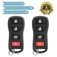 2 Keyless Entry Remote Control Car Key Fob Replacement for KBRASTU15 4BTN